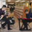 "Guitarist Abe Ovadia and organist Anthony Pacetti play a soulful John Coltrane ballad Friday night at ""Jazz in the Stacks"" at the La Plata library."