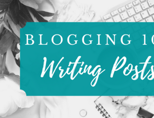 Blogging 101, Part Four: Writing Posts