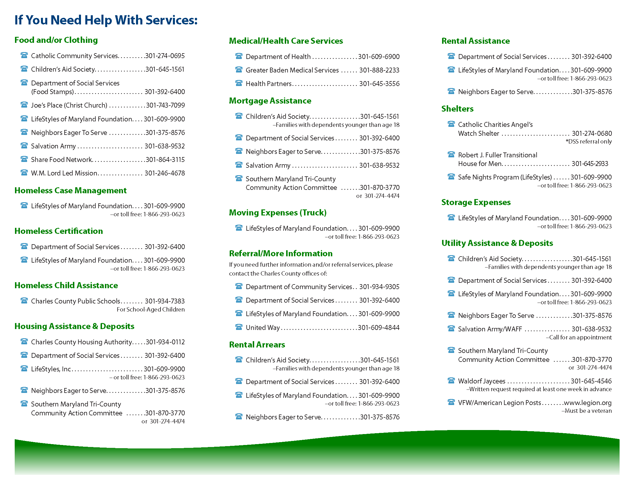 Image #1 Chart from Charles County Government website