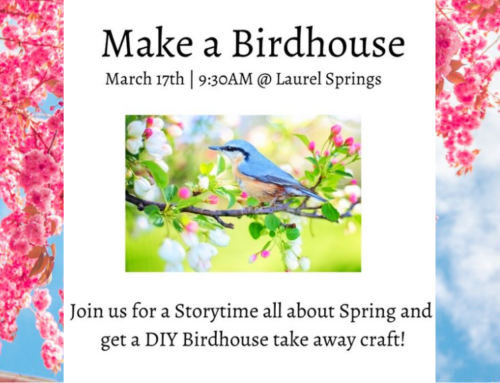 Make a Birdhouse & Storytime at Laurel Springs Park