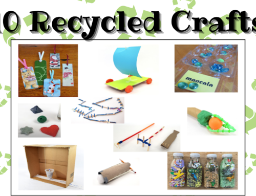 10 Crafts Using Recycled Materials